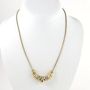 Chico's Jewelry - Chico's Necklace w. Barrel Bead Pendants Gold Tone